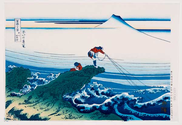 Hokusai, Fishing from promontory